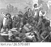 Lysander destroying the walls of Athens, 404 BC, Peloponnesian War. (2017 год). Редакционное фото, фотограф Heinz-Dieter Falkenstein / age Fotostock / Фотобанк Лори