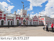 Купить «Железнодорожный вокзал в городе Вологде», фото № 26573237, снято 20 июня 2017 г. (c) Николай Мухорин / Фотобанк Лори