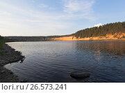 Вечер на реке Сухоне в урочище Опоки Вологодской области, фото № 26573241, снято 12 августа 2016 г. (c) Николай Мухорин / Фотобанк Лори