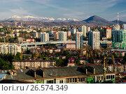 Купить «Сочи, вид сверху на городскую застройку в Центральном районе», фото № 26574349, снято 25 августа 2019 г. (c) glokaya_kuzdra / Фотобанк Лори