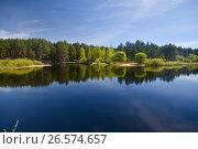 Купить «Весенний речной пейзаж в Мещере», фото № 26574657, снято 5 мая 2017 г. (c) Сергей Дрозд / Фотобанк Лори