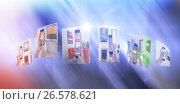 Купить «Composite image of digital composite image of various screens», иллюстрация № 26578621 (c) Wavebreak Media / Фотобанк Лори
