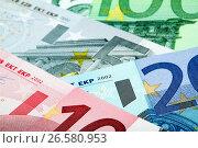 Купить «Евро крупным планом», фото № 26580953, снято 11 декабря 2011 г. (c) Александр Гаценко / Фотобанк Лори