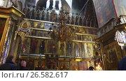 Купить «Trinity Cathedral in Lavra, Sergiyev Posad, Russia», видеоролик № 26582617, снято 25 октября 2016 г. (c) BestPhotoStudio / Фотобанк Лори