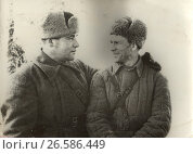 Купить «Двое советских военных, 1943», фото № 26586449, снято 25 июня 2019 г. (c) Retro / Фотобанк Лори