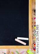 Купить «Items for the school», фото № 26594989, снято 26 мая 2017 г. (c) Елена Блохина / Фотобанк Лори