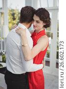 Купить «Romantic couple embracing each other», фото № 26602173, снято 13 марта 2017 г. (c) Wavebreak Media / Фотобанк Лори
