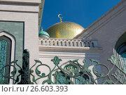 Купить «Москва. Московская соборная мечеть», фото № 26603393, снято 1 апреля 2017 г. (c) Pukhov K / Фотобанк Лори