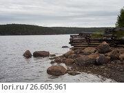 White sea, old slip dock, Chupa Karelia, white polar night, фото № 26605961, снято 20 июня 2015 г. (c) Сурикова Ирина / Фотобанк Лори