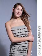 Купить «Studio shoot portrait attractive young girl», фото № 26609429, снято 27 января 2012 г. (c) Tatjana Romanova / Фотобанк Лори