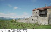 Купить «Alaverdi monastery in Kakheti province in Georgia», видеоролик № 26637773, снято 18 июня 2017 г. (c) Илья Насакиин / Фотобанк Лори
