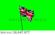 Union flag against green screen. Стоковое видео, агентство Wavebreak Media / Фотобанк Лори