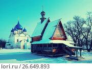 Купить «Churches at Suzdal in winter. Russia», фото № 26649893, снято 8 марта 2012 г. (c) Яков Филимонов / Фотобанк Лори