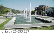 Купить «Fountain in Mtskheta old capital of Georgia», видеоролик № 26653237, снято 18 июня 2017 г. (c) Илья Насакин / Фотобанк Лори