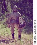 Купить «Knight in armor», фото № 26656645, снято 5 июня 2010 г. (c) Яков Филимонов / Фотобанк Лори