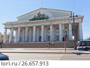Купить «Здание Биржи в Санкт-Петербурге», фото № 26657913, снято 17 июня 2017 г. (c) Николай Мухорин / Фотобанк Лори