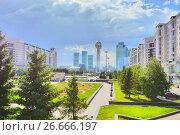 Купить «Казахстан. Астана. Красивый городской пейзаж», фото № 26666197, снято 10 июня 2017 г. (c) Сергеев Валерий / Фотобанк Лори