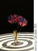 Купить «Darts On A Black», фото № 26666701, снято 18 июля 2017 г. (c) Андрей Скат / Фотобанк Лори