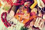 Variety of meats on table, фото № 26675997, снято 20 июля 2017 г. (c) Яков Филимонов / Фотобанк Лори