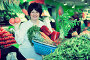 Mature woman buying fresh fruits with basket, фото № 26679613, снято 10 марта 2017 г. (c) Яков Филимонов / Фотобанк Лори