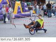 """Катание на модифицированных велосипедах в парке """"Сокольники"""" (2016 год). Редакционное фото, фотограф Краснова Ирина / Фотобанк Лори"""