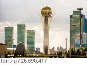 Купить «Казахстан. Астана. Бульвар Нуржол», фото № 26690417, снято 17 октября 2018 г. (c) Сергеев Валерий / Фотобанк Лори