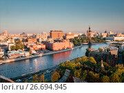 Купить «Sunset in Moscow.», фото № 26694945, снято 18 мая 2017 г. (c) Liseykina / Фотобанк Лори
