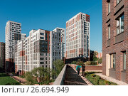 New residential area in Moscow., фото № 26694949, снято 27 мая 2017 г. (c) Liseykina / Фотобанк Лори