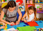 School children with scissors in kids hands cutting paper ., фото № 26695241, снято 25 марта 2017 г. (c) Gennadiy Poznyakov / Фотобанк Лори