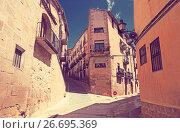 Купить «picturesque street of old spanish town. Calaceite, Teruel», фото № 26695369, снято 11 мая 2016 г. (c) Яков Филимонов / Фотобанк Лори