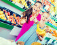 Mother with girl showing thumbs up in supermarket, фото № 26711357, снято 28 июля 2017 г. (c) Яков Филимонов / Фотобанк Лори