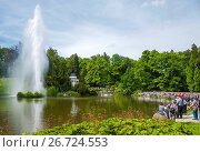 Купить «Kassel, Hessen, Deutschland Weltkulturerbe Bergpark Wilhelmshöhe Wasserspiele WasserkünsteJussow-Tempel», фото № 26724553, снято 10 декабря 2018 г. (c) age Fotostock / Фотобанк Лори