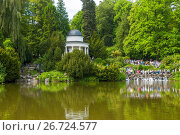 Купить «Kassel, Hessen, Deutschland Weltkulturerbe Bergpark Wilhelmshöhe Wasserspiele WasserkünsteJussow-Tempel», фото № 26724577, снято 10 декабря 2018 г. (c) age Fotostock / Фотобанк Лори