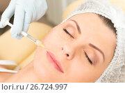 Cosmetic injection closeup. Стоковое фото, фотограф Никита Буйда / Фотобанк Лори