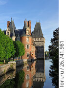 Chateau de Maintenon by the Eure river, Eure-et-Loir department, Centre-Val de Loire region, France, Europe. Стоковое фото, фотограф Christian Goupi / age Fotostock / Фотобанк Лори