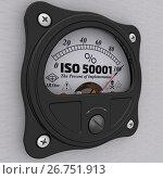 Купить «ISO 50001. The percent of implementation», иллюстрация № 26751913 (c) WalDeMarus / Фотобанк Лори