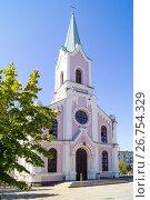 Купить «Католический храм Святого Николая в Волгограде», эксклюзивное фото № 26754329, снято 12 августа 2017 г. (c) Volgograd.travel / Фотобанк Лори