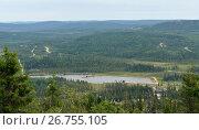 Купить «Finnish Lapland. Lake among forests», фото № 26755105, снято 23 июля 2017 г. (c) Валерия Попова / Фотобанк Лори