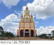 Купить «Hoa An catholic church in Dak Song, Vietnam», фото № 26759881, снято 1 июля 2017 г. (c) Александр Подшивалов / Фотобанк Лори
