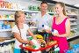 Customers are selecting milk, фото № 26760581, снято 11 июля 2017 г. (c) Яков Филимонов / Фотобанк Лори