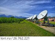 Купить «Радиоастрофизическая обсерватория в Бадарах, Тункинской долины, Бурятия. Солнечный интерферометр», фото № 26762221, снято 14 июля 2017 г. (c) Геннадий Соловьев / Фотобанк Лори