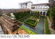 Palace of Generalife(Palacio de Generalife). Granada, Spain (2016 год). Редакционное фото, фотограф Яков Филимонов / Фотобанк Лори