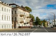 Купить «Provincial Russian cityscape of Kostroma, Russia», фото № 26762697, снято 28 августа 2016 г. (c) Яков Филимонов / Фотобанк Лори