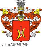 Купить «Герб Литовско-Белорусского дворянского рода  Гурко», фото № 26768769, снято 4 декабря 2019 г. (c) Владимир Макеев / Фотобанк Лори