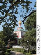 Купить «Успенский собор Новодевичьего монастыря летом», эксклюзивное фото № 26770673, снято 19 августа 2017 г. (c) Дмитрий Неумоин / Фотобанк Лори