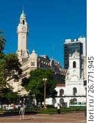 Купить «Plaza de Mayo in Buenos Aires», фото № 26771945, снято 21 февраля 2017 г. (c) Яков Филимонов / Фотобанк Лори
