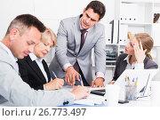 Купить «Businessman feeling angry to coworkers», фото № 26773497, снято 1 июля 2017 г. (c) Яков Филимонов / Фотобанк Лори