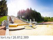 Купить «Golden Hill Cascade at Lower Park of Peterhof», фото № 26812389, снято 22 мая 2016 г. (c) Сергей Новиков / Фотобанк Лори