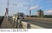 Купить «Мост через реку Самара», фото № 26813761, снято 12 августа 2017 г. (c) Кургузкин Константин Владимирович / Фотобанк Лори
