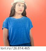 Купить «Composite image of beautiful brunette women wearing casual clothes», фото № 26814465, снято 20 марта 2019 г. (c) Wavebreak Media / Фотобанк Лори